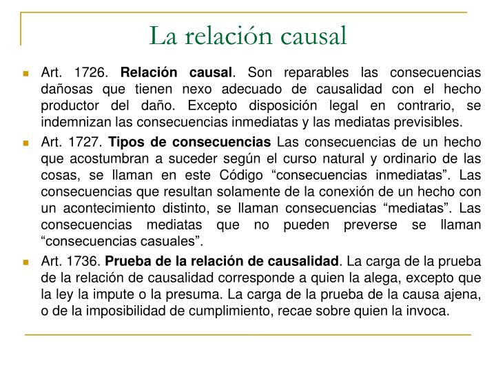 La relación causal