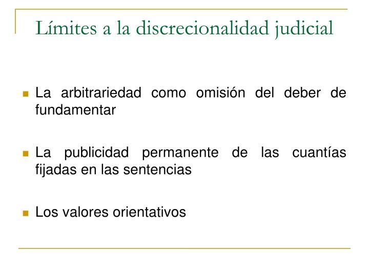 Límites a la discrecionalidad judicial