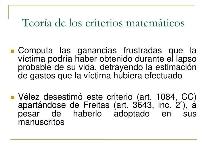 Teoría de los criterios matemáticos