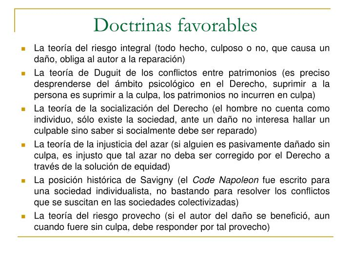 Doctrinas favorables