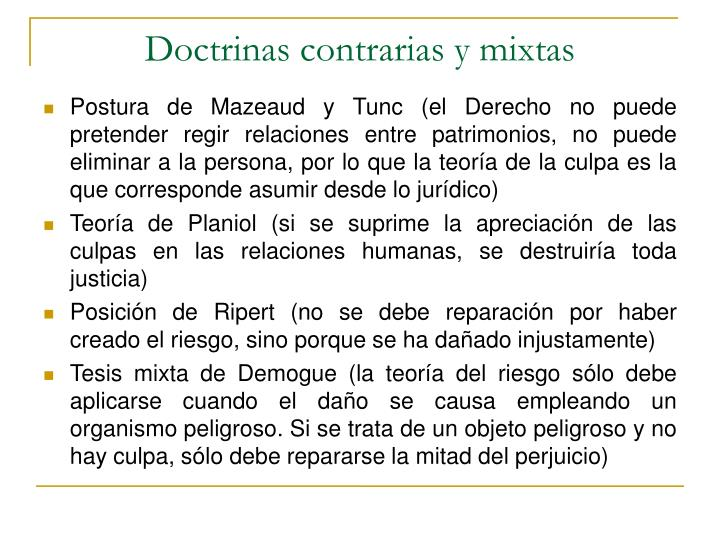 Doctrinas contrarias y mixtas