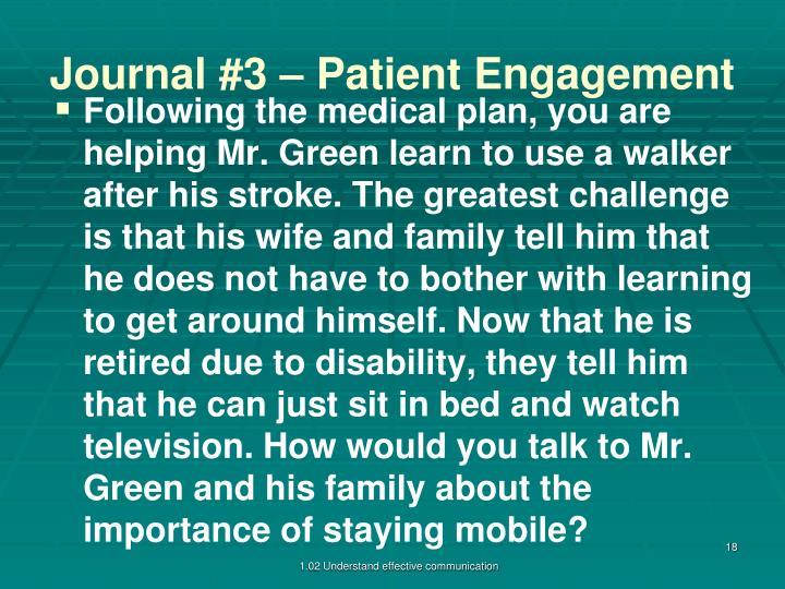 Journal #3 – Patient Engagement