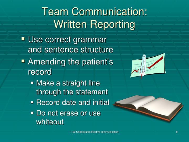 Team Communication: