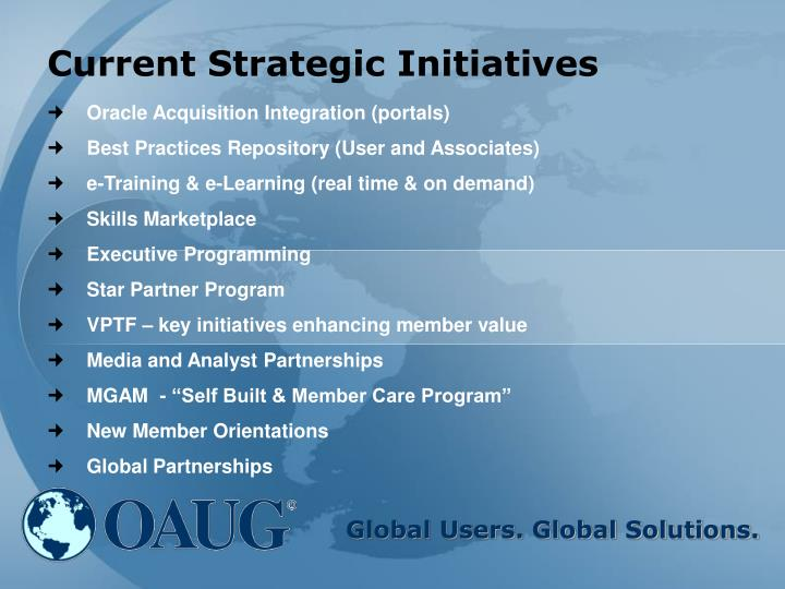 Current Strategic Initiatives