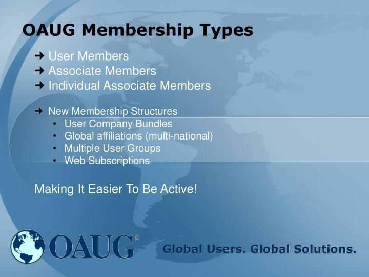 OAUG Membership Types