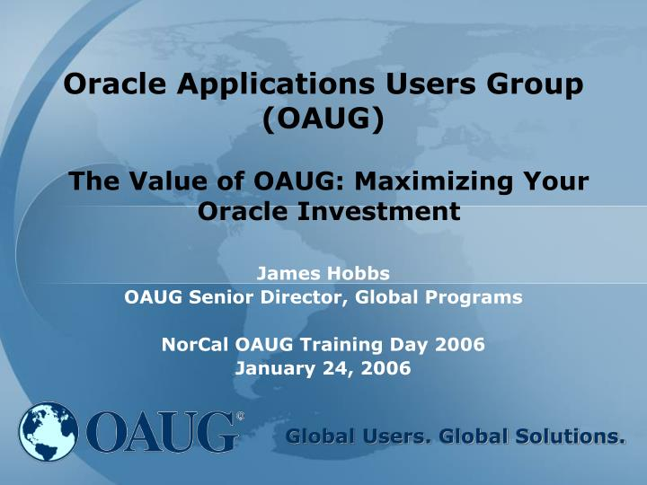 Oracle applications users group oaug