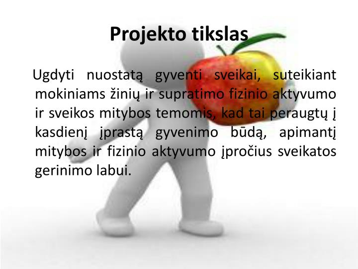 Projekto tikslas