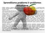 sprend iama problema ir problemos aktualumas