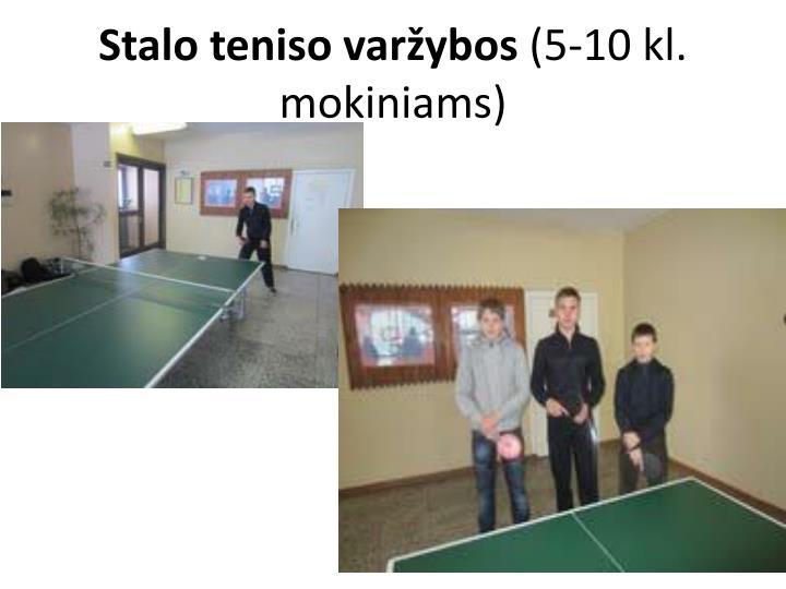 Stalo teniso varžybos