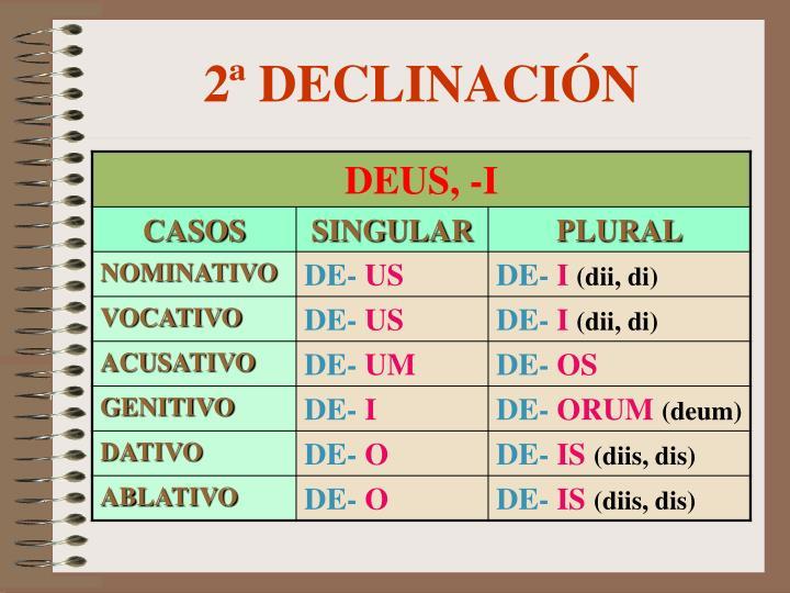 2ª DECLINACIÓN