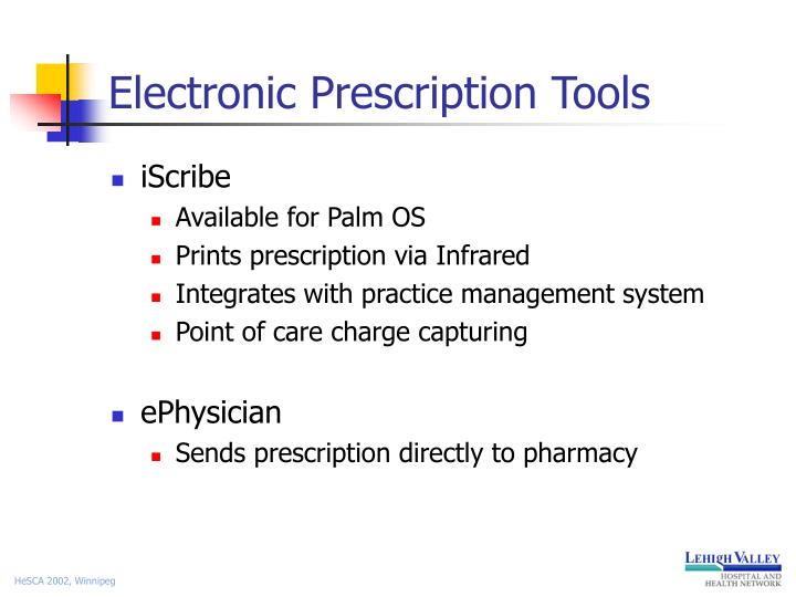 Electronic Prescription Tools
