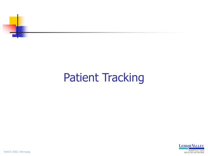 Patient Tracking