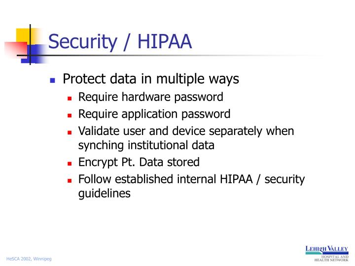 Security / HIPAA