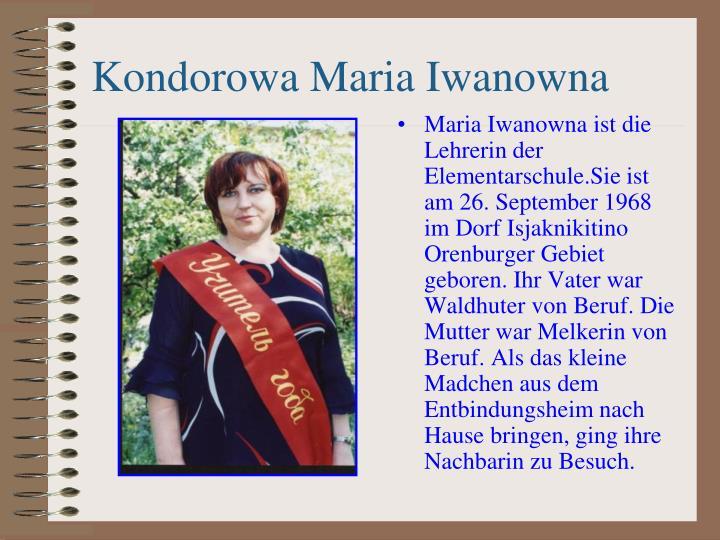 Kondorowa Maria Iwanowna