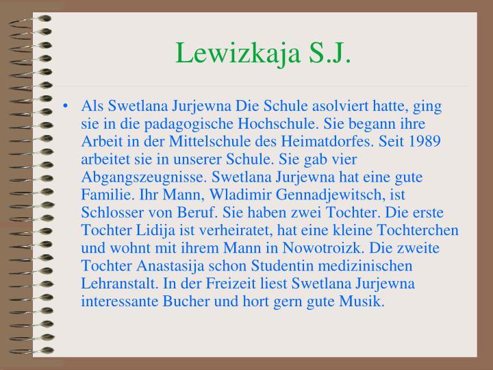 Lewizkaja S.J.