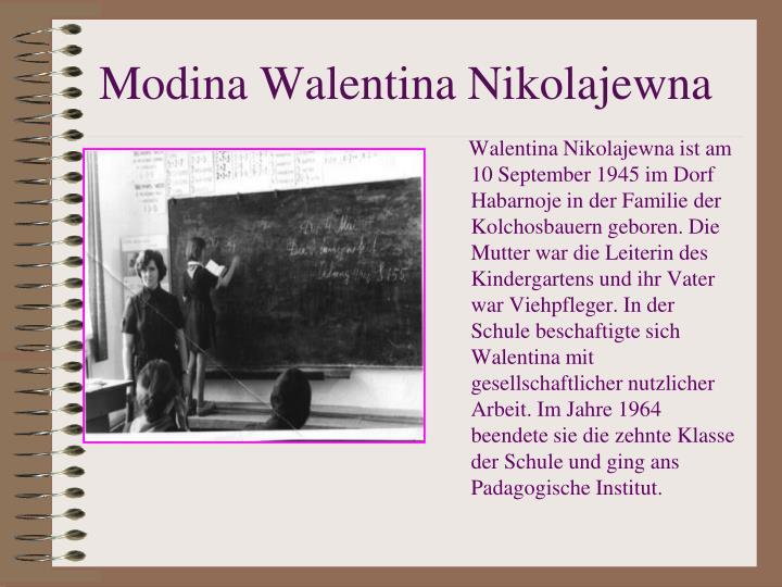 Modina Walentina Nikolajewna