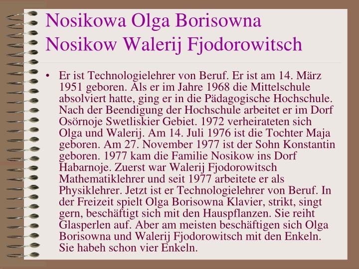 Nosikowa Olga Borisowna