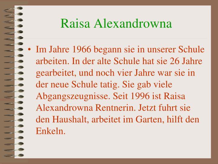 Raisa Alexandrowna