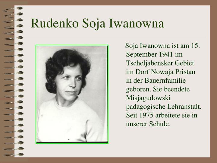 Rudenko Soja Iwanowna