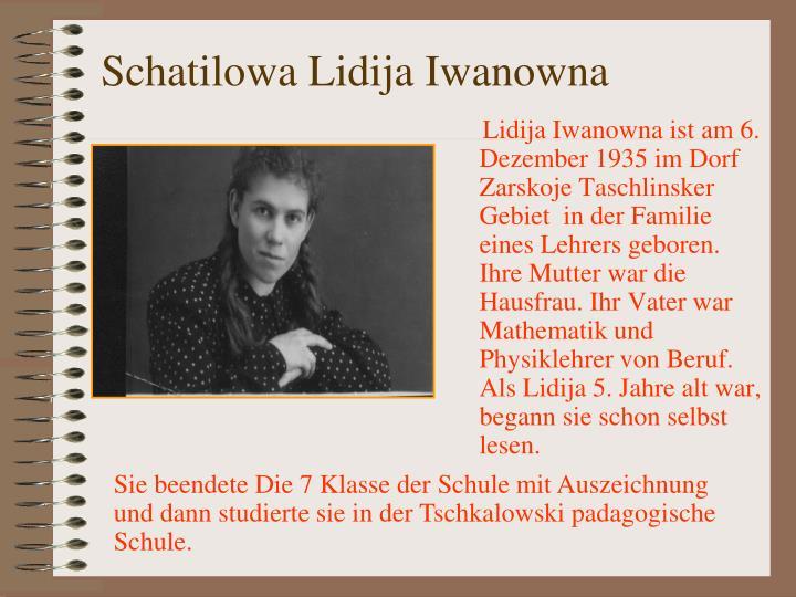 Schatilowa Lidija Iwanowna