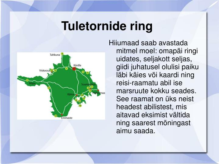 Tuletornide ring