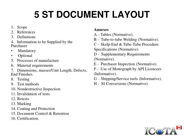 5 ST DOCUMENT LAYOUT