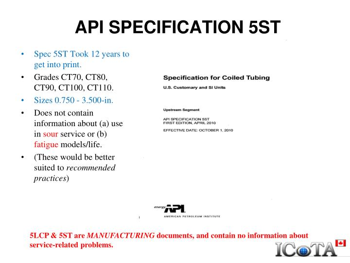 API SPECIFICATION 5ST