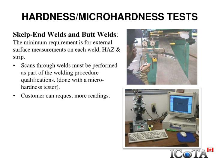 HARDNESS/MICROHARDNESS TESTS