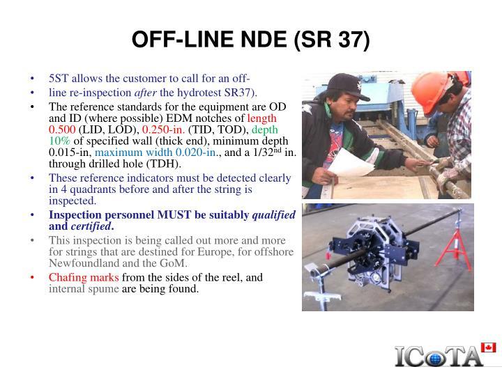 OFF-LINE NDE (SR 37)