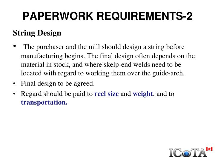 PAPERWORK REQUIREMENTS-2