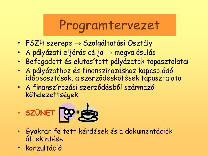 Programtervezet