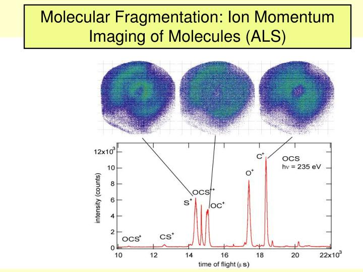 Molecular Fragmentation: Ion Momentum Imaging of Molecules (ALS)
