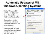 automatic updates of ms windows operating systems1