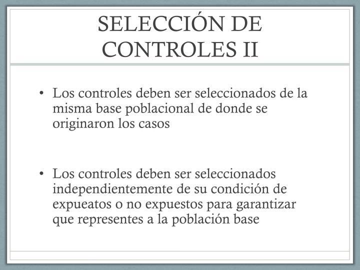 SELECCIÓN DE CONTROLES II