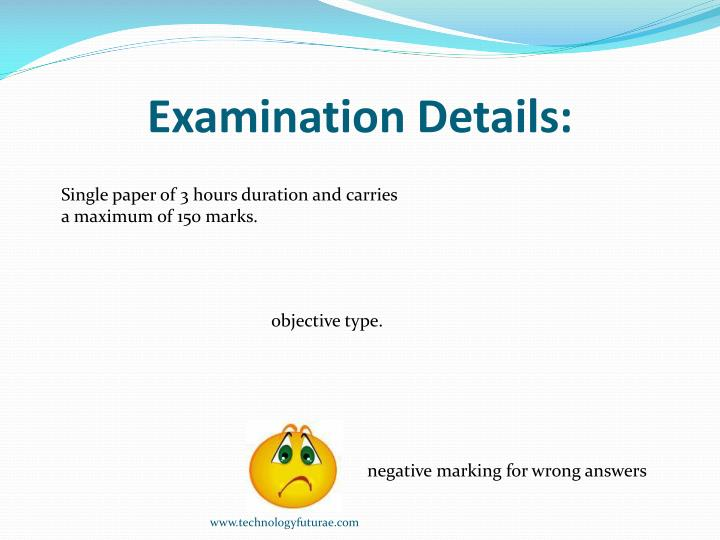 Examination Details: