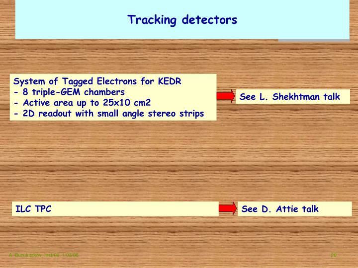 Tracking detectors