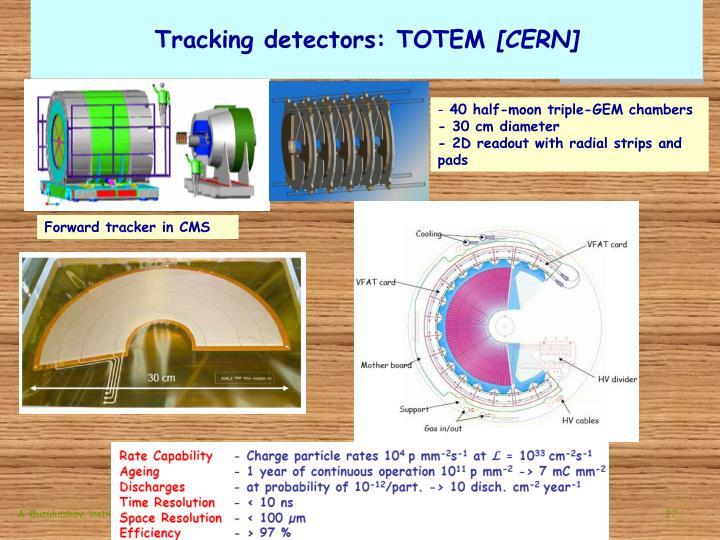 Tracking detectors: TOTEM