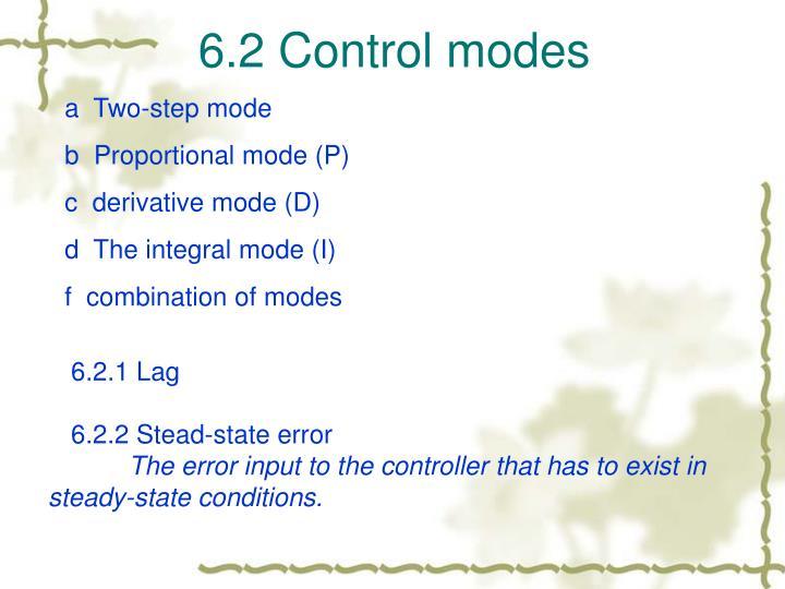 6.2 Control modes