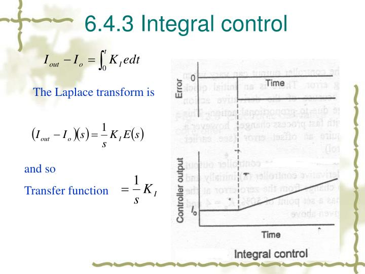 6.4.3 Integral control