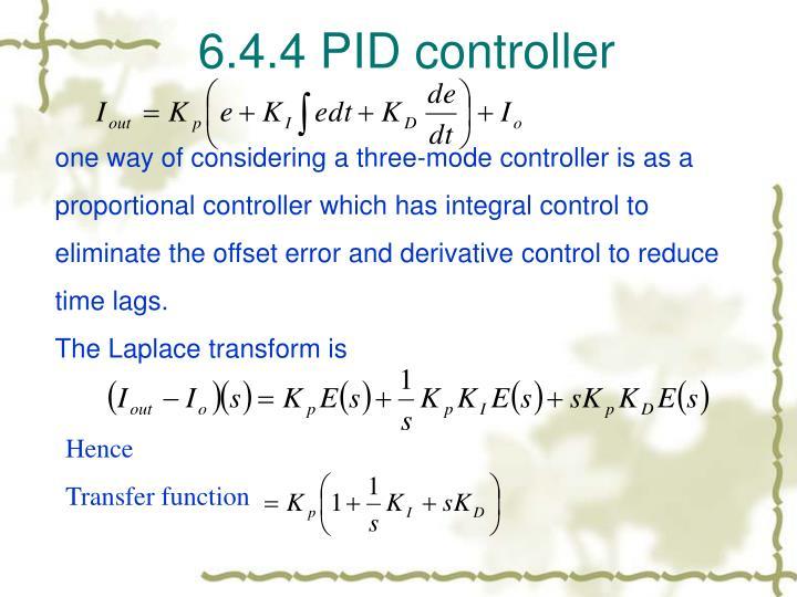 6.4.4 PID controller