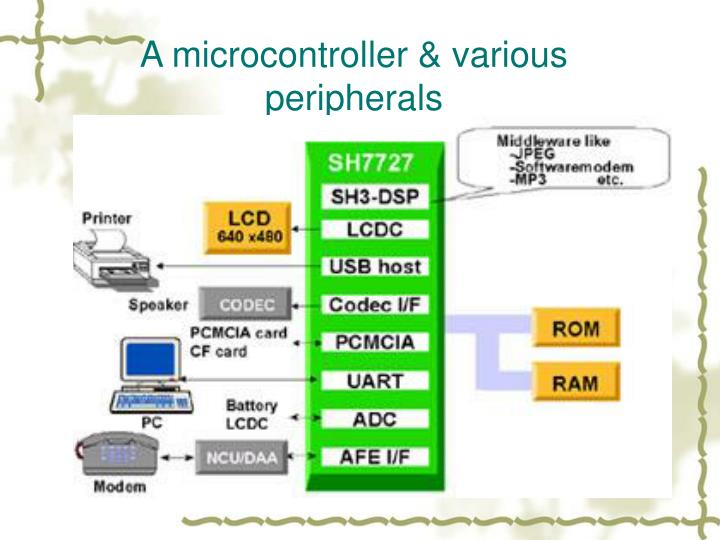 A microcontroller & various peripherals