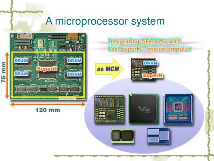 A microprocessor system