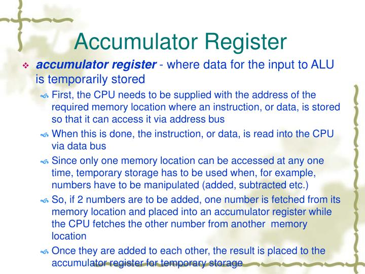 Accumulator register