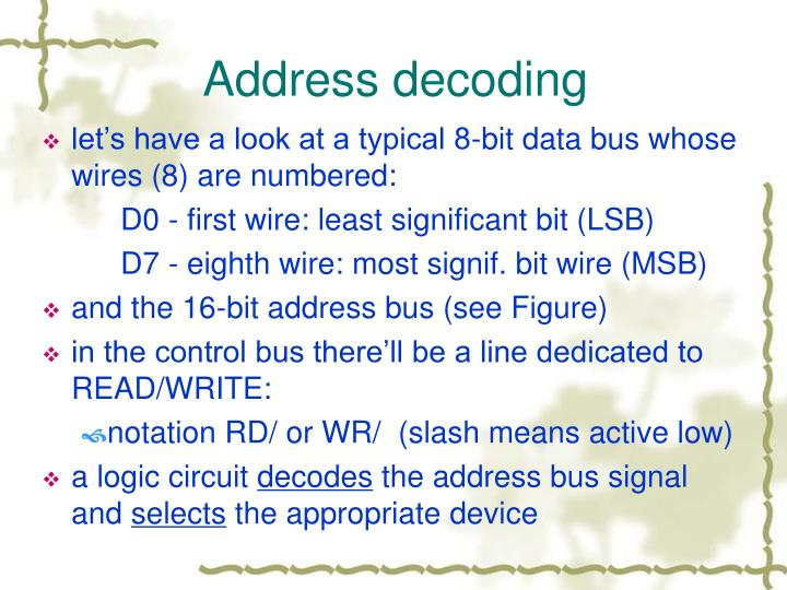 Address decoding