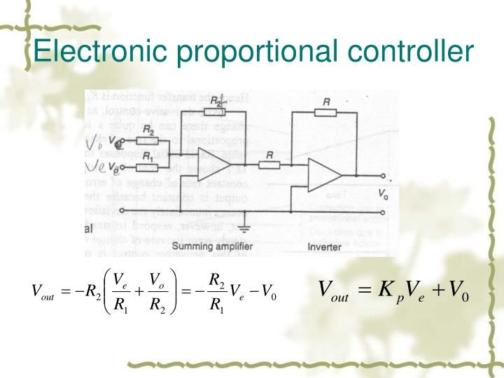Electronic proportional controller