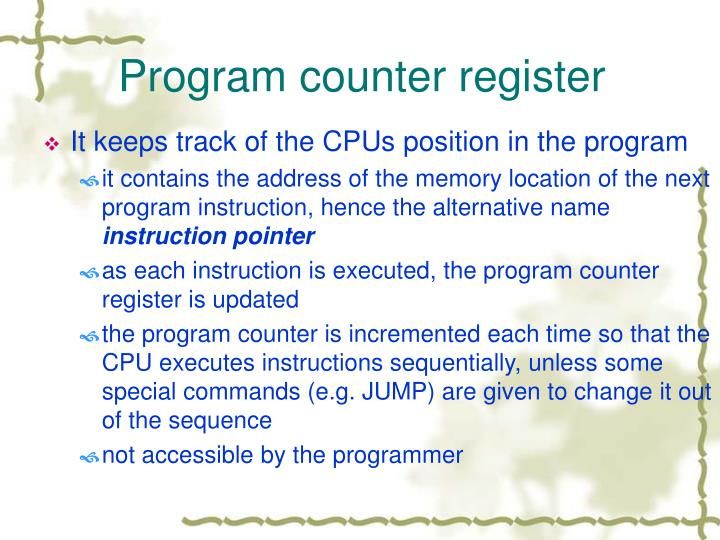 Program counter register