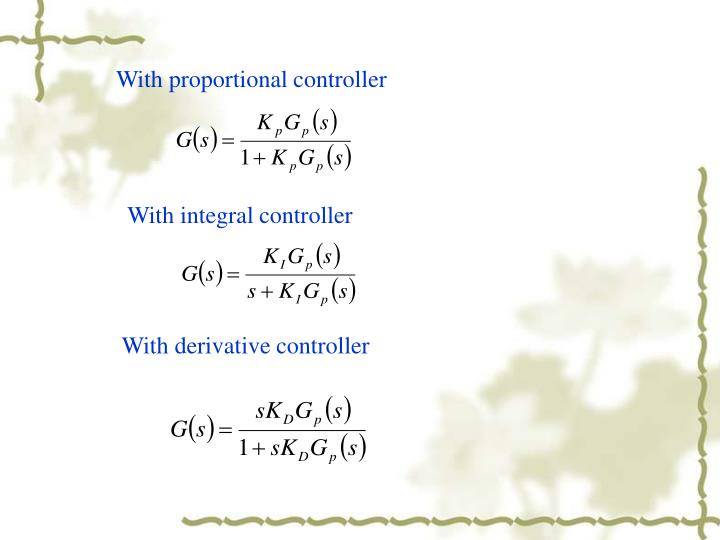 With proportional controller