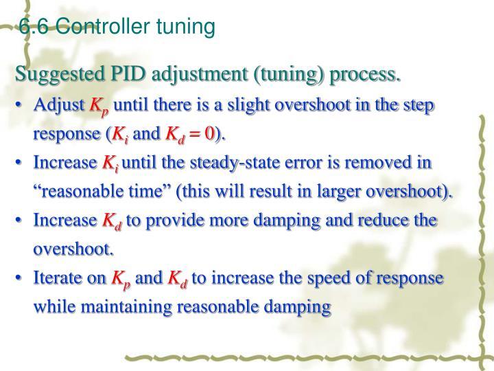 6.6 Controller tuning