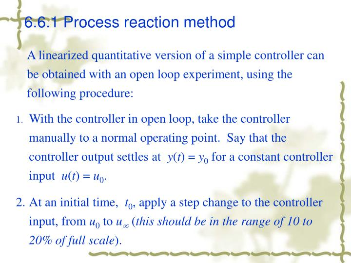 6.6.1 Process reaction method
