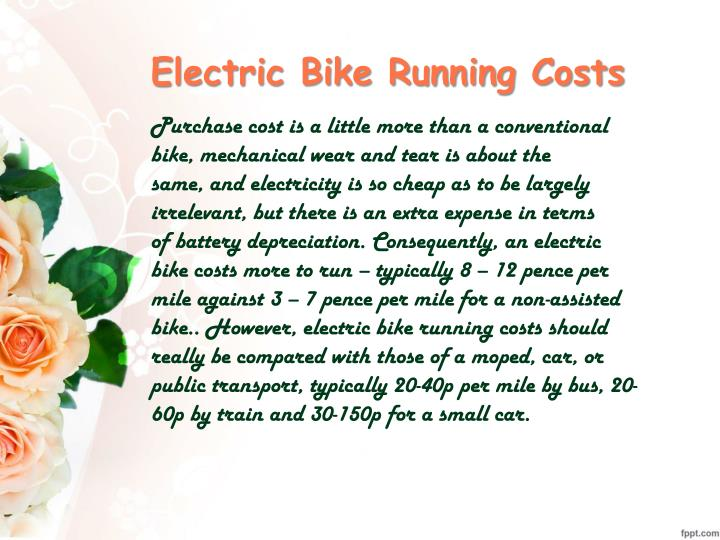 Electric Bike Running Costs